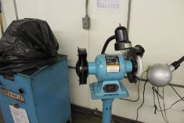 Central Machinery bench grinder model 6510, sn UNK, 2 hp., 1,750 RPM, no safety guards, mounted on