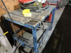 Steel cart and contents, four wheel.