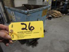 """McCullough Lift truck dumpster, plus scrap, 32"""" x 51""""."""