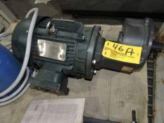 Toshiba 5 hp motor, 1,750 rpm.