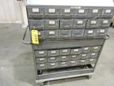 Rolling parts cabinet.