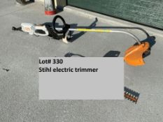 Stihl FSE80 electric trimmer, sn 432639411 type 4809. (LOCATED AT HILPIPRE AUCTION CO. FACILITY)