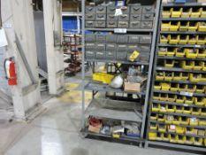 Cabinet w/hydraulic fittings.