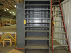 Steel parts bins, (2).