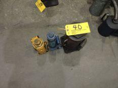 Hydraulic jacks, (1) 5 T., (1) 8 T., (1) 50 T.