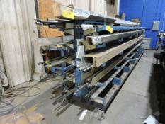 Stainless Steel tubing on rack.