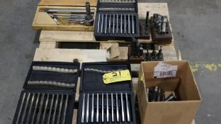 Assorted tooling: cutters, reamers, Okuma parallel sets, etc.