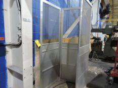 Aluminum 3 sided enclosure.