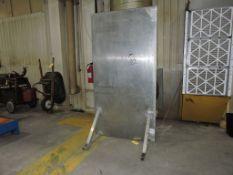 """Steel shield, 45"""" x 7 1/2 ft."""