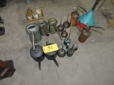 Misc. oil cans.