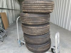 (5) Near New Continental truck tires, size 275/65 R18, M&S/80 PSI, came off a 2021 Ford F250, less