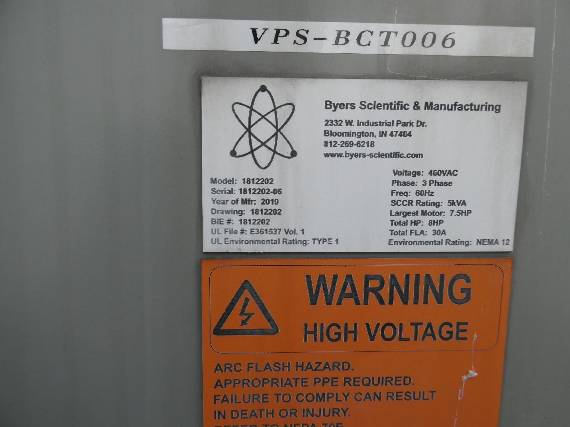 Byers Scientific 1812202 Odour Management System - Image 3 of 3