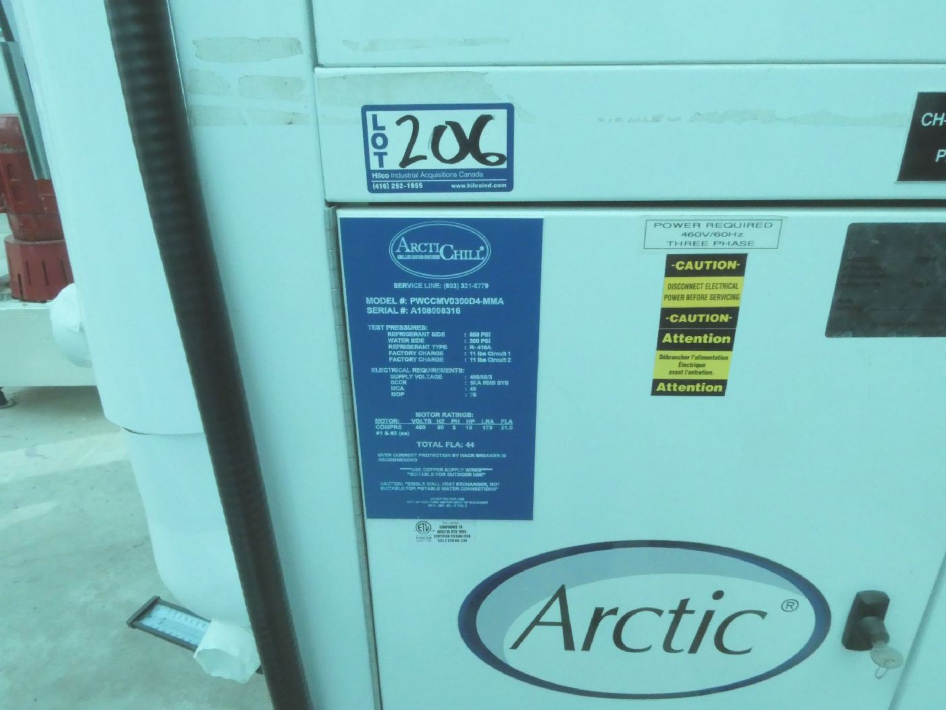 Artic Chill PWCCMV0300D4-MMA 15-HP Chiller - Image 12 of 12
