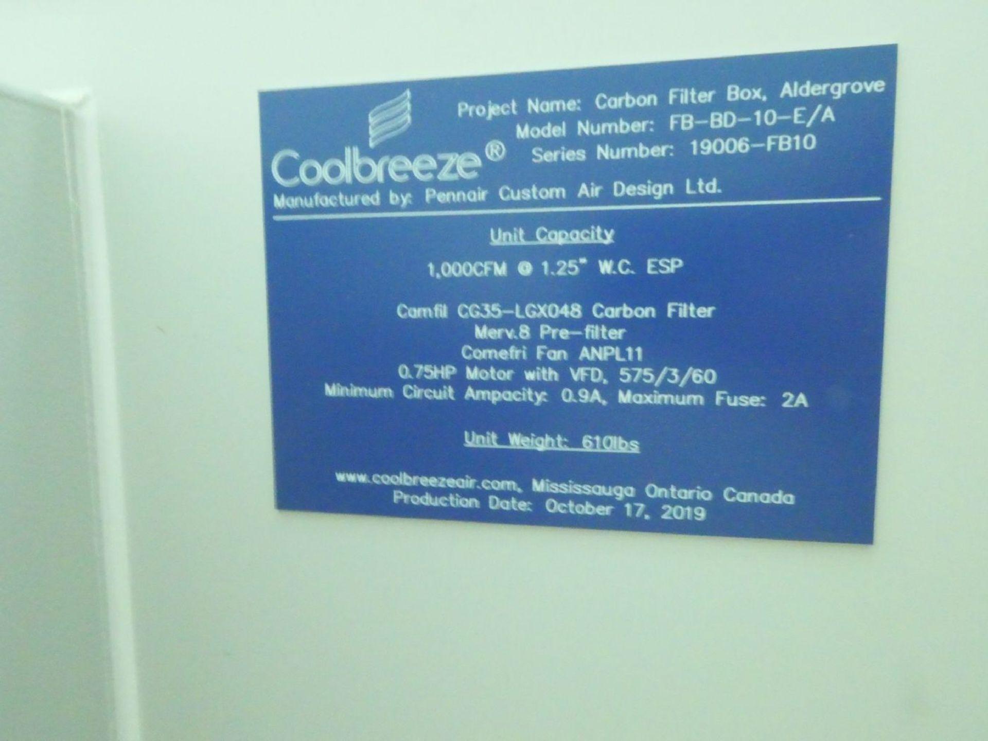 Pennair FB-BD-10-E/A Coolbreeze 1,000CFM Carbon Filter Box - Image 2 of 3