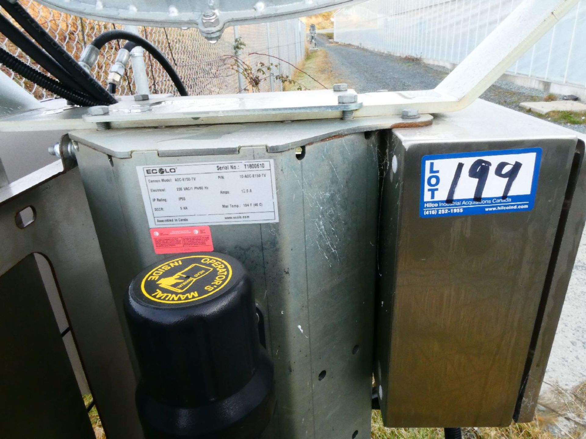 Ecolo AOC-E150-YV Odour Control Cannon - Image 2 of 2