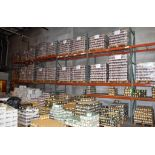 "Lot c/o: Heavy Duty Adjustable Metal Pallet Racking, (12) 16' High x 42"" Deep Uprights, (48) 96"" Cro"