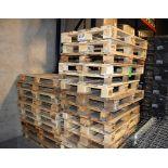 Lot c/o: Assorted Sized Wood Skids