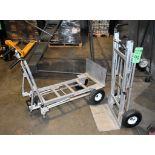 Lot c/o: (2) Aluminum Convertible Hand Truck Dolly, Pneumatic Wheels