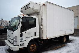 2009 Isuzu NPR-HD 14Ft. S/A Refrigerated Box Truck Vin: JALC4W16897002122 (2009) 205-HP 4-Cyl. 5.2L