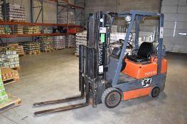 Toyota 3,550 lb. Model 42-6FGCU18 LPG Forklift Truck S/N: 64953, Triple Mast, S/Shift, ROPS, Solid T