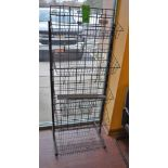 """26"""" x 20"""" x 66"""" High Vertical Double-Sided Wire Adjustable Display Rack"""