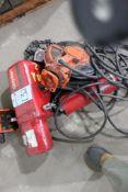 Dayton 2-Ton Model 9N100B Electric Chain Hoist, 1-HP, 3-Ph, 230/460-Volt, 60-Hz w/ Trolley & Electri