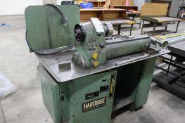 Hardinge Model WE-59 Precision Lathe S/N: V59-991-1, Cabinet Base, Swivel Compound, 2-HP motor Drive