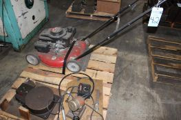Lot c/o: Pallet w/ Mower & Misc. Tools
