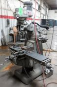 """Bridgeport Vertical Milling Machine, S/N 281073, 48"""" X 9"""" T Slot Table, ACU-Rite XY Read Out, Table"""