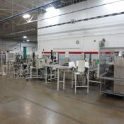 Work Cell Consisting of 4 Press Units, Bend Tube Machine, Belisle Tube Bender, 2 Button Machine and