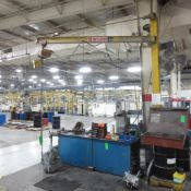 Abell Howe 1/2 Ton Jib With Budgit 1/2 Ton Electric Hoist