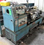 """Jet Lathe, Gap Bed, 3 1/4"""" Hole, 16"""" Swing, 60"""" Bed, 3 Jaw Chuck, S/N 96-81-765CG With Aloris Tool P"""
