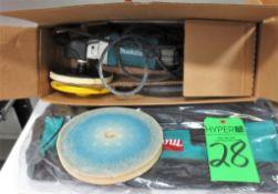 "Makita 7"" Electric Polisher and Bag.**Lot Located at 2395 Dakota Drive, Grafton, WI 53024**"