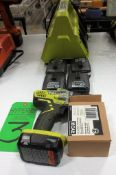Ryobi 12V Battery Drill, 5 12V Battery and Charger.**Lot Located at 2395 Dakota Drive, Grafton, WI 5