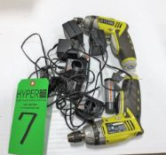(2) Ryobi 4V Drills and Chargers.**Lot Located at 2395 Dakota Drive, Grafton, WI 53024**