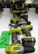 (4) Ryobi 12V Battery Drills With 3 Chargers.**Lot Located at 2395 Dakota Drive, Grafton, WI 53024**