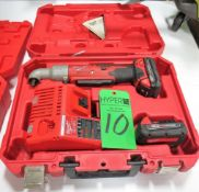Milwaukee 18V 3/8 Right Angle Impact Wrench W/Case and Charger.**Lot Located at 2395 Dakota Drive, G