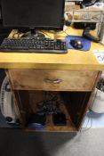 2 computer work stations w/monitors and computer