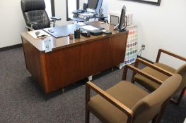 2 offices includes 3 desks, 6 chairs, 2- 4 drawer file cabinets & Dell monitors