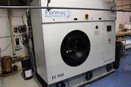 2011 Bowe Permac model EC-900 dry cleaning machine s/n EC-D-90038