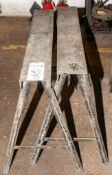 "Steel Sawhorses (Pair) 36"" Long, 31 1/2"" Tall"