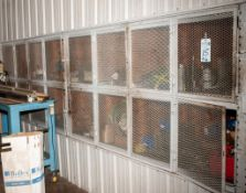 Contents of 16 Storage Cubbies See Photos