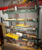"""Freestanding Cantilever Rack with Contents Approx. 71"""" Wide x 72""""Tall x 17 1/2"""" Welded Arms"""