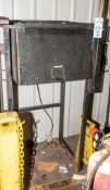 Steel Stand w/ Cabinet used For Welding Rod Storage w/ Contents, Electrodes, Torch etc.