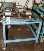 Steel Rolling Work Table w/ Pneumatic Cylinders