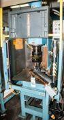 OrbitForm Radial Riveting Machine Mdl. B750 s/n 9506-887G On Stand w/ Banner Light Curtain