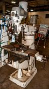 Bridgeport Mill with Machine Vise, Drivehead 2J S/n 2j32549, Jacobs Chuck and some R-8 Collets, Mach
