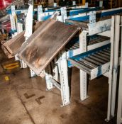 """(5) Sets Over/Under Roller conveyors, Height adjustment can be made. Approx. 15 1/2"""" Rollers each Co"""
