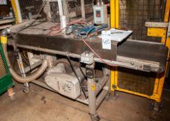 "Belt Conveyor w/ Air Knife, 17 1/4""wide Belt approx. 92"" Long"
