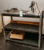 2-Shelf Steel Shelving w/ Digital Gauges, Aluminium Jigs etc. See Photos